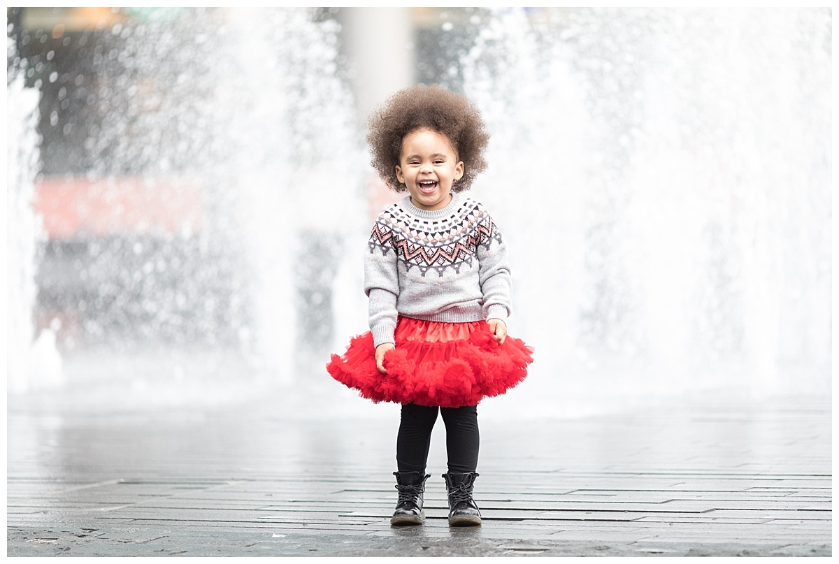 family photographer edinburgh, smiling girl with afro hair professional photography by beautiful bairns photography Edinburgh