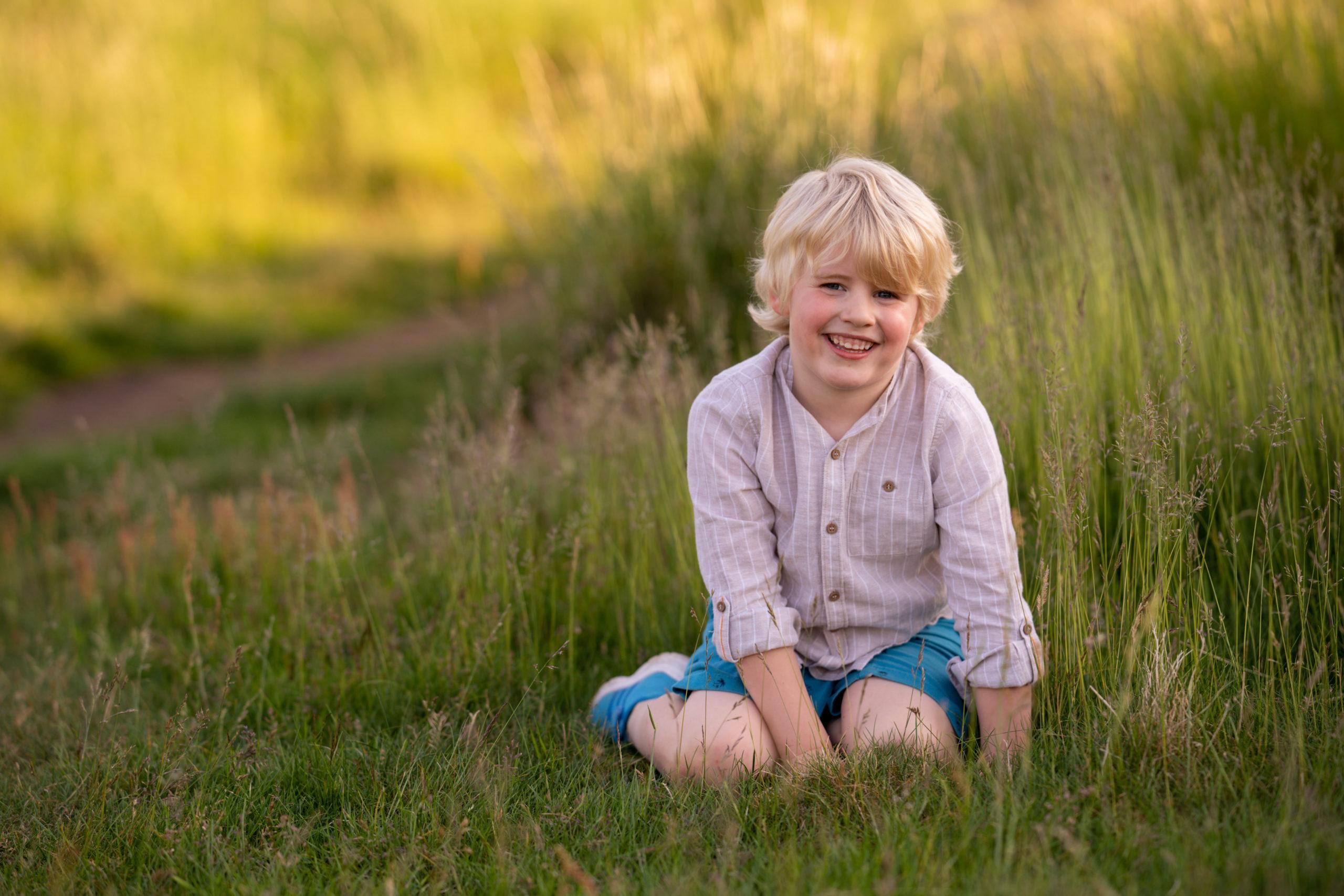 professional family photography edinburgh by beautiful bairns photography little boy photographed at blackford hill edinburgh
